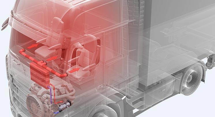 卡车安装液体水暖加热器