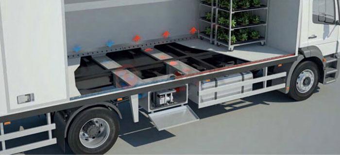 物流运输车辆货厢货仓加热取暖方案