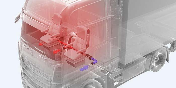 物流运输车辆安装驻车空气加热器