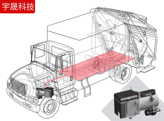 垃圾车加热防止凝固上冻
