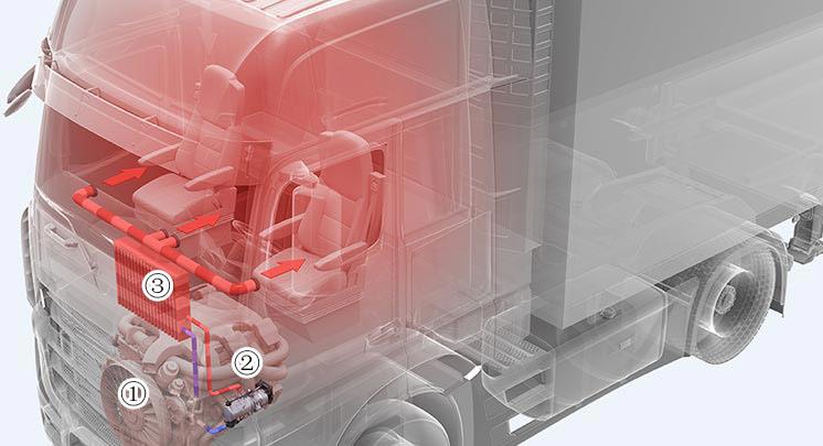 燃油运输车安装燃油液体加热器预热发动机