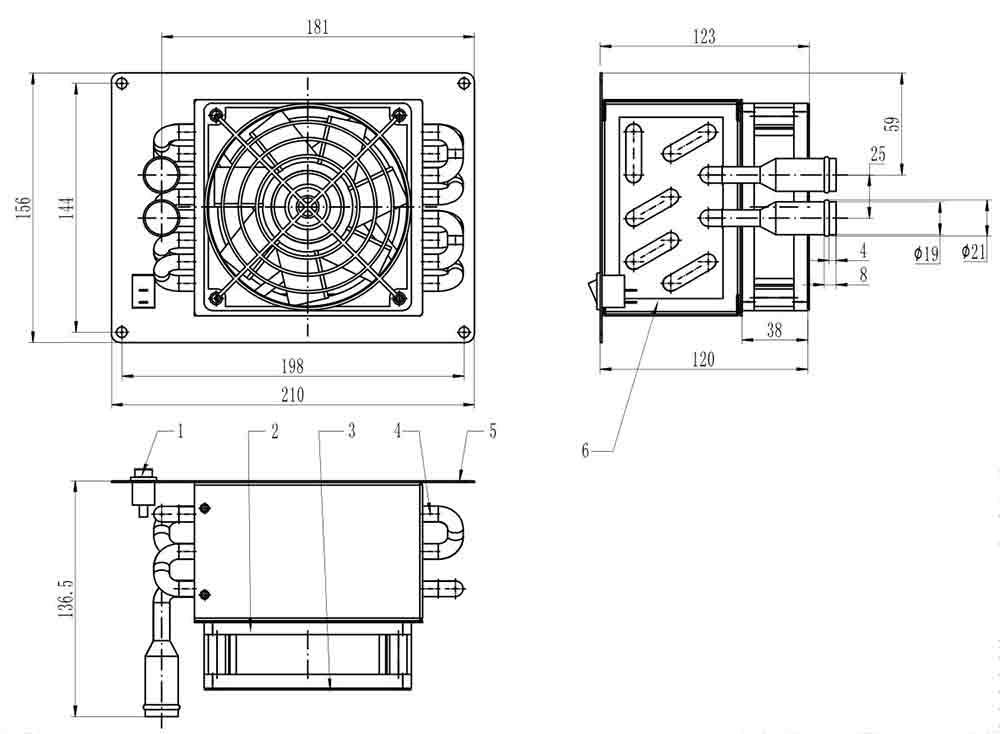 415-14002强制出风盒式散热器