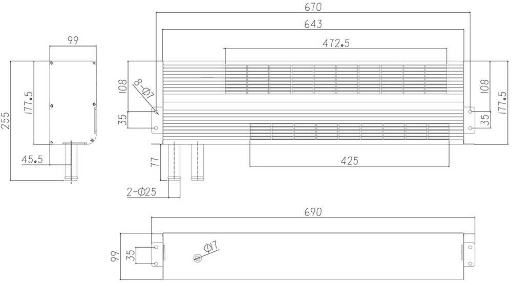 406-57002坐下出水壁挂式散热器