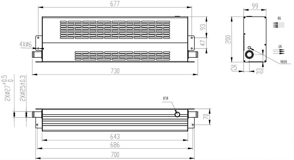406-43002水平出水壁挂散热器