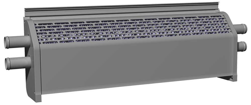 双管对流型自然散热器