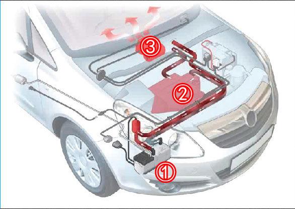 新能源轿车改装燃油水暖加热器